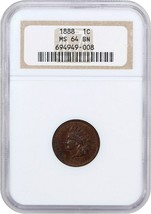 1888 1c NGC MS64 BN - Indian Cent - $266.75