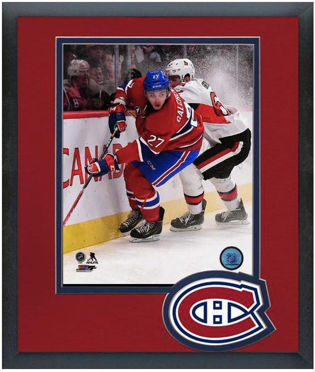 Alex Galchenyuk 2014-15 Montreal Canadiens-11 x 14 Team Logo Matted/Framed Photo