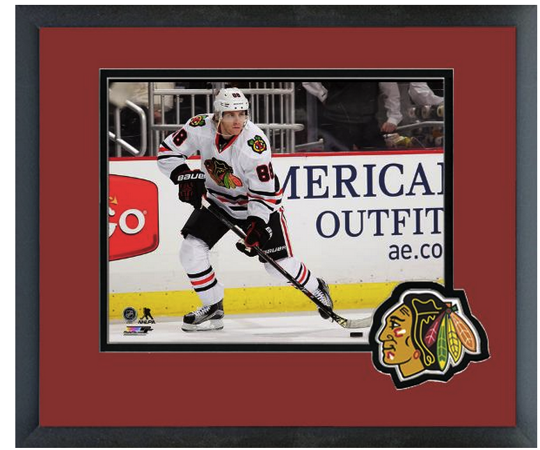Patrick Kane 2014-15 Chicago Blackhawks - 11 x 14 Team Logo Matted/Framed Photo