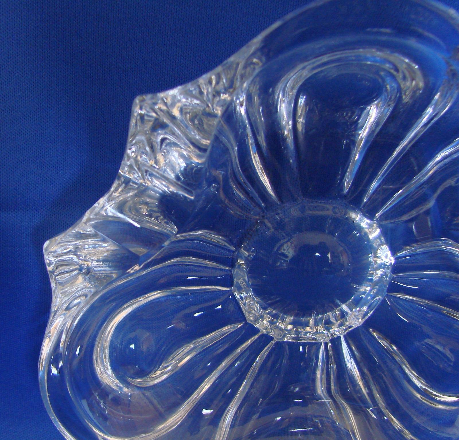 Elegant Clover Shaped Tiffin Crystal Ashtray Stunning
