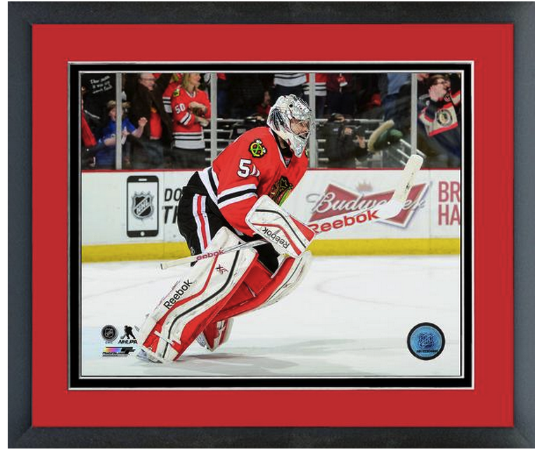 Corey Crawford 2014-2015 Chicago Blackhawks -11 x 14 Matted/Framed Photo