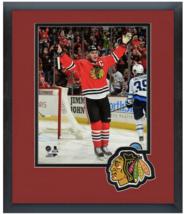 Jonathan Toews 2014-15 Chicago Blackhawks- 11 x 14 Team Logo Matted/Framed Photo - $42.95