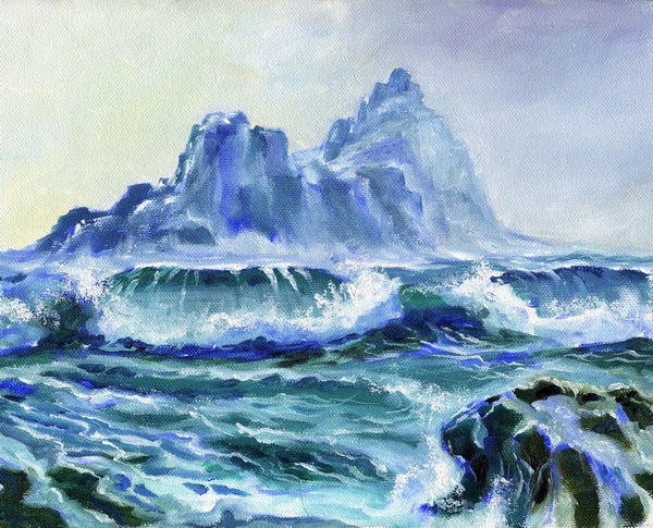 Akimova: STORM, sea, water, seascape, blue