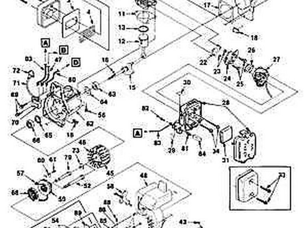 carburetor gasket Craftsman Ryobi trimmer 98766a BLOWER