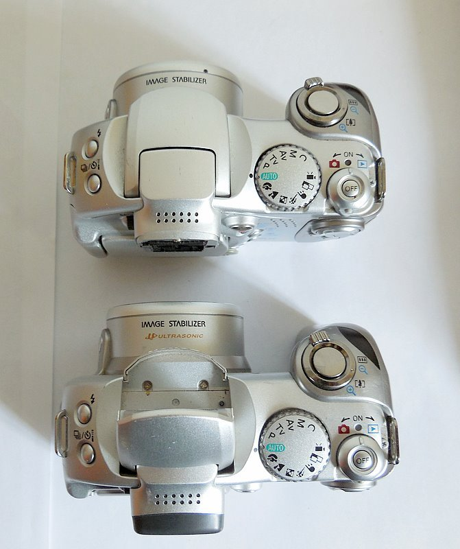 Lot of 2 Canon Powershot S1 IS 3.2 MP Digital Camera