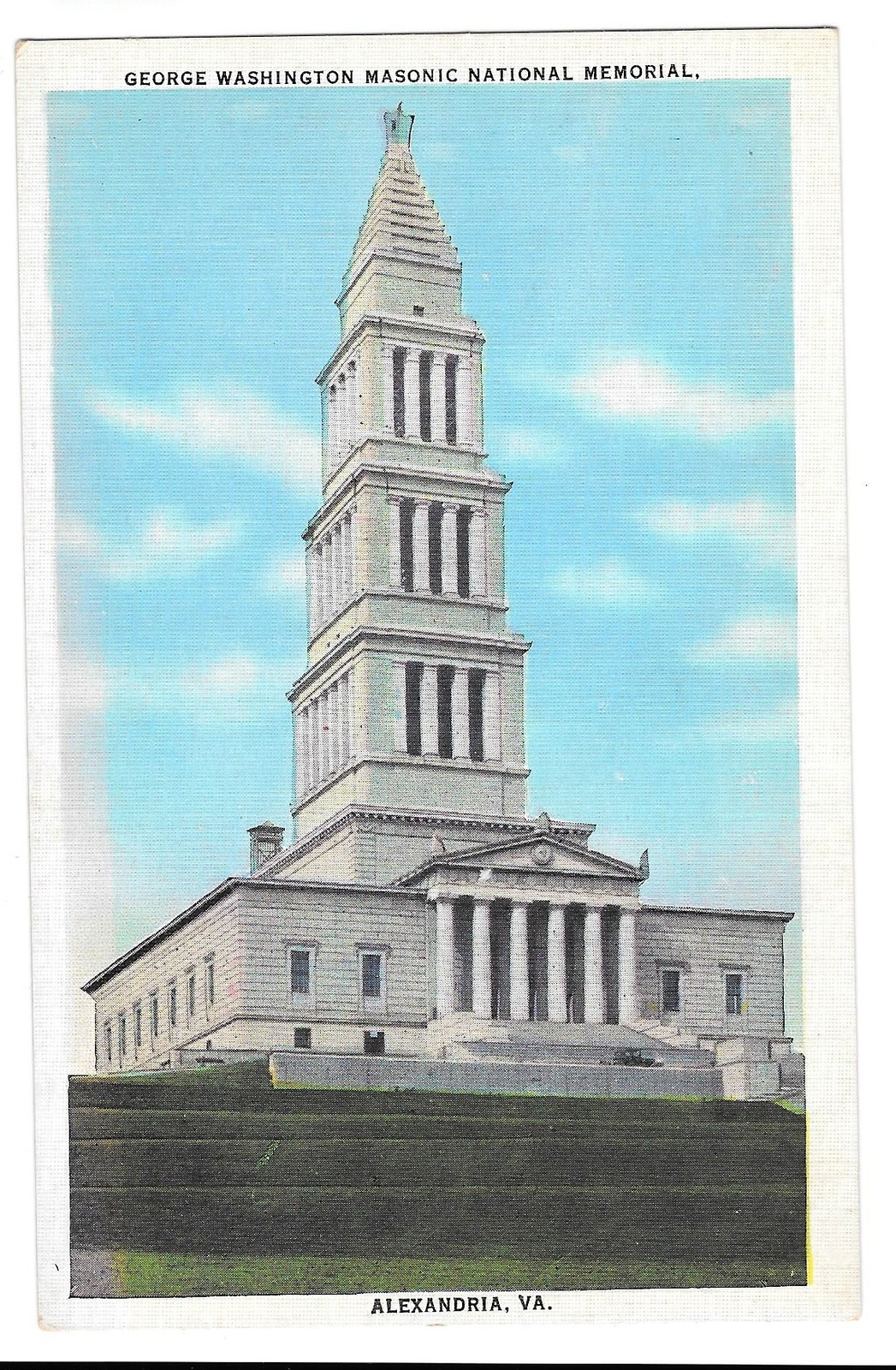 99 br 1925 1bx va alexandria george washington masonic natl memorial