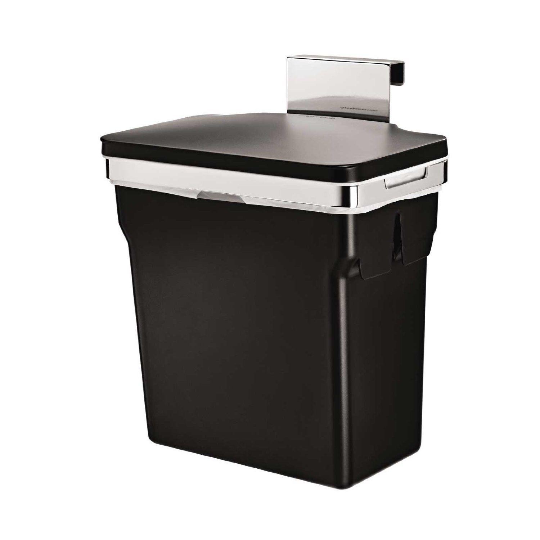 2.6 Gallon Cabinet Trash Can Hanging Simplehuman Waste Bin Kitchen CW1643 NEW