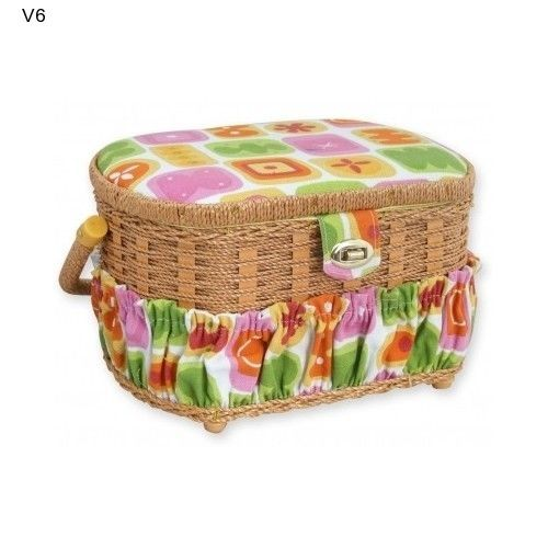 Vintage Sewing Basket Michley 41 Piece Sewing Kit Accessories NEW