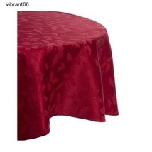 Lenox Holiday Damask Tablecloth 70 In Round Fab... - $37.74