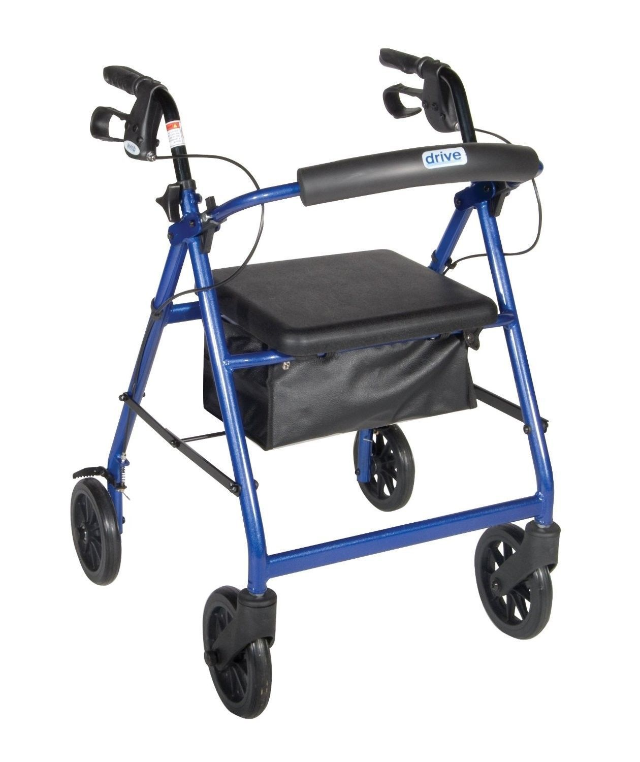 Drive Medical Walkabout Walker Loop Brakes Rollator Mobile Pad Seat Support NEW