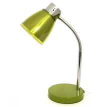 Acrylic Table Lamp Olive Green Chrome Contemporary Light Decor Gift NEW - $53.36
