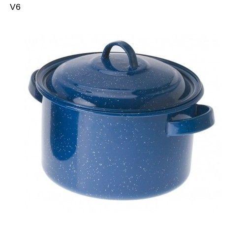 Blue Stock Pot Camp Picnic School Potluck Kitchen Stew Casserole Jelly NEW