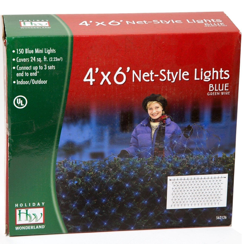 Noma Inliten Blue Christmas Light 150 Net StyleIcicles 48954-88 Wonderland NEW