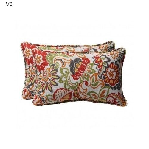 2 Multicolor Accent Pillows Pillow Perfect Home Fashions Indoor Floral NEW