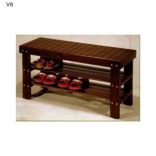 Shoe Rack Bench Organizer Patio Entryway Storage Wooden Seat Bench NEW