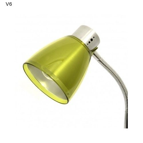 Acrylic Table Lamp Olive Green Chrome Contemporary Light Decor Gift NEW