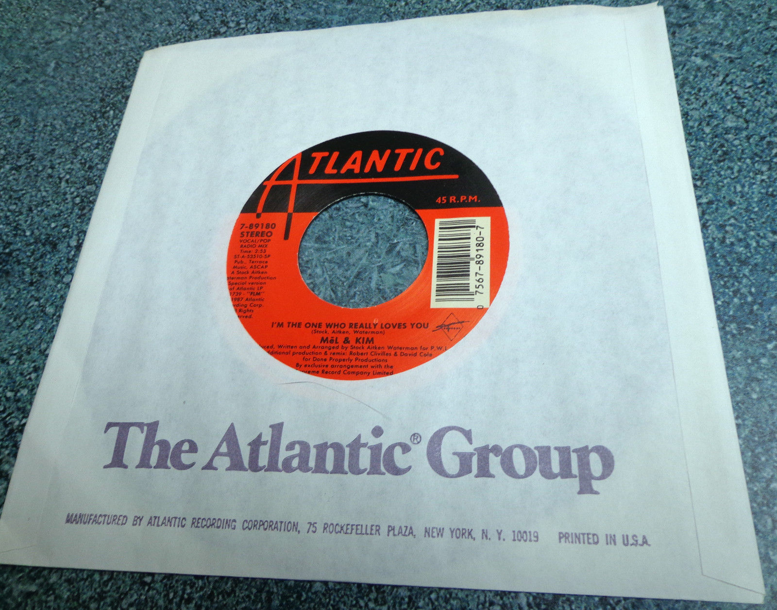 """MEL & KIM Atlantic 45 I'M THE ONE WHO REALLY LOVES YOU Rare 7"""" issue FUNK HIPHOP"""