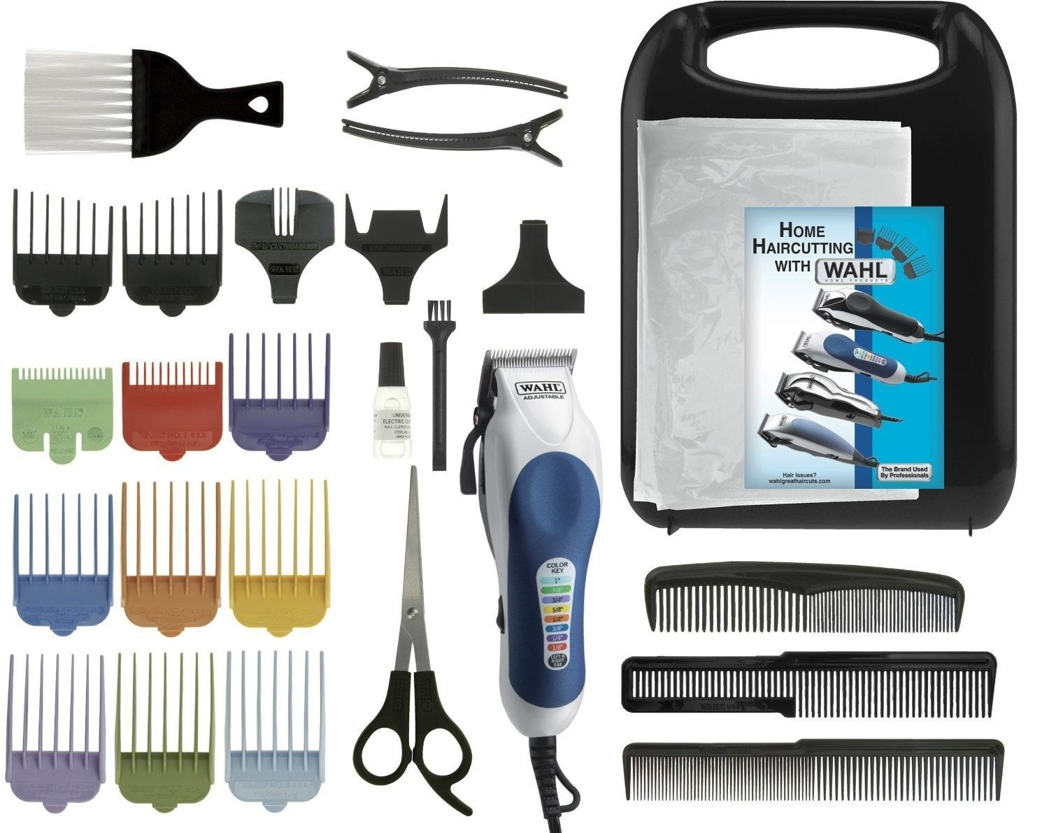 Haircutting Kit 26 Piece Clippers Beard Trim Shave Set Adjust Speed Case NEW
