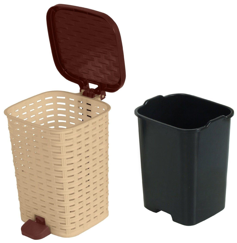 Superior Compact Trash Bin Storage Bathroom Bedroom Laundry Garage Office NEW
