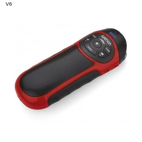 Ivation Bike Bluetooth Speaker Sports Recharge MP3 Micro SD Card Universal Slot
