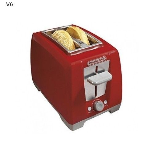 Proctor 2 Slice Bagel Toaster RED Auto Shut Off Cord Wrap Cancel Cool Touch NEW