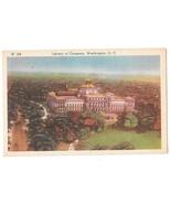 Washington DC Library of Congress Vintage Ideal Linen Postcard - $6.36
