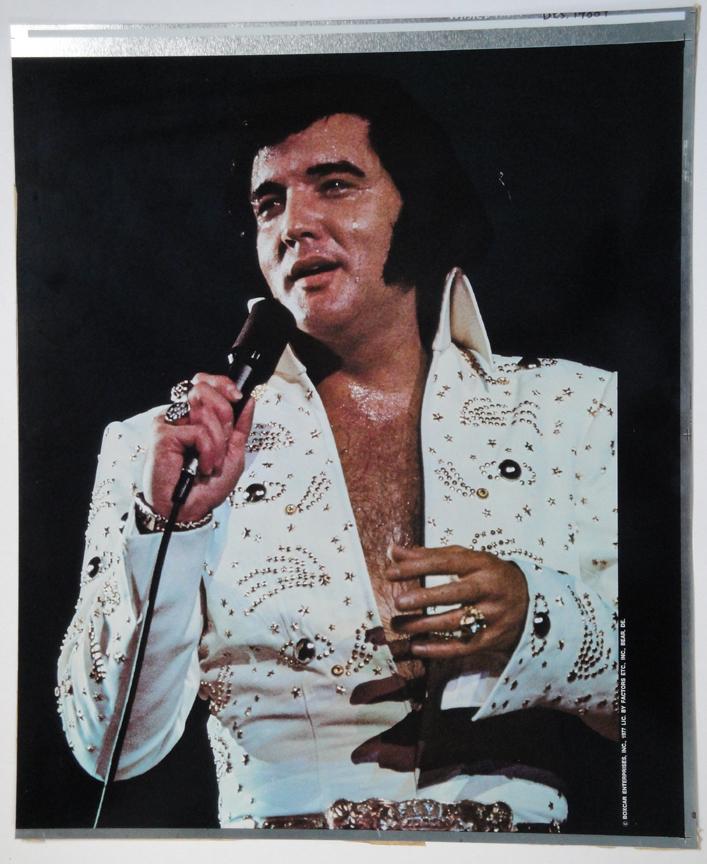 Elvis poster plate 1