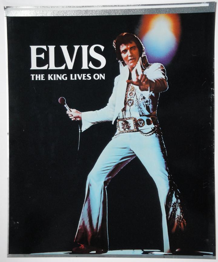 Elvis poster plate 2