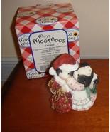 Mary's Moo Moos I Saw Moo-mmy Kissing Santa Claus Dated 1999 Figurine - $13.89