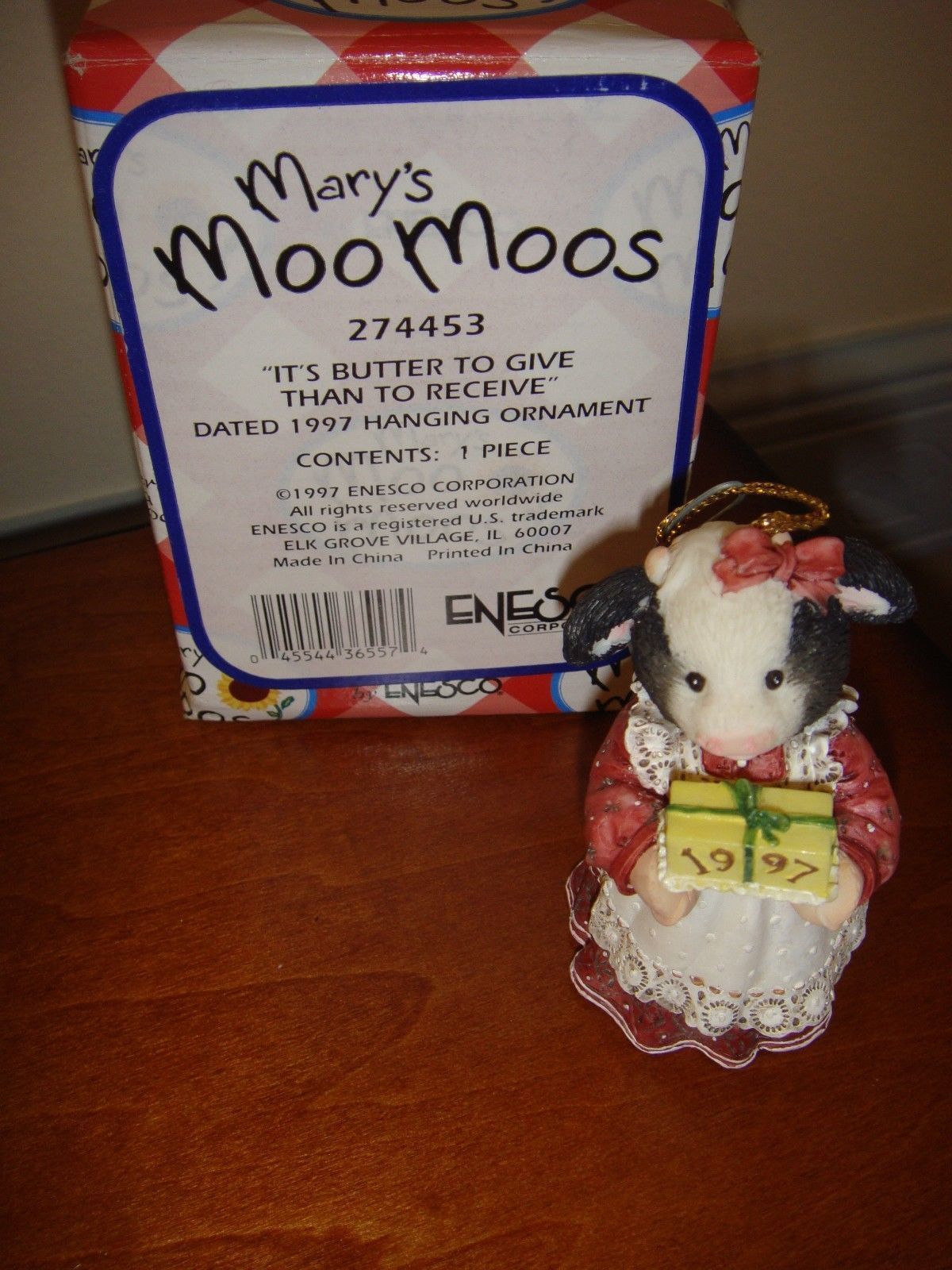 Mary's Moo Moos It's Butter To Give Than To Receive Dated 1997 Ornament, 274453