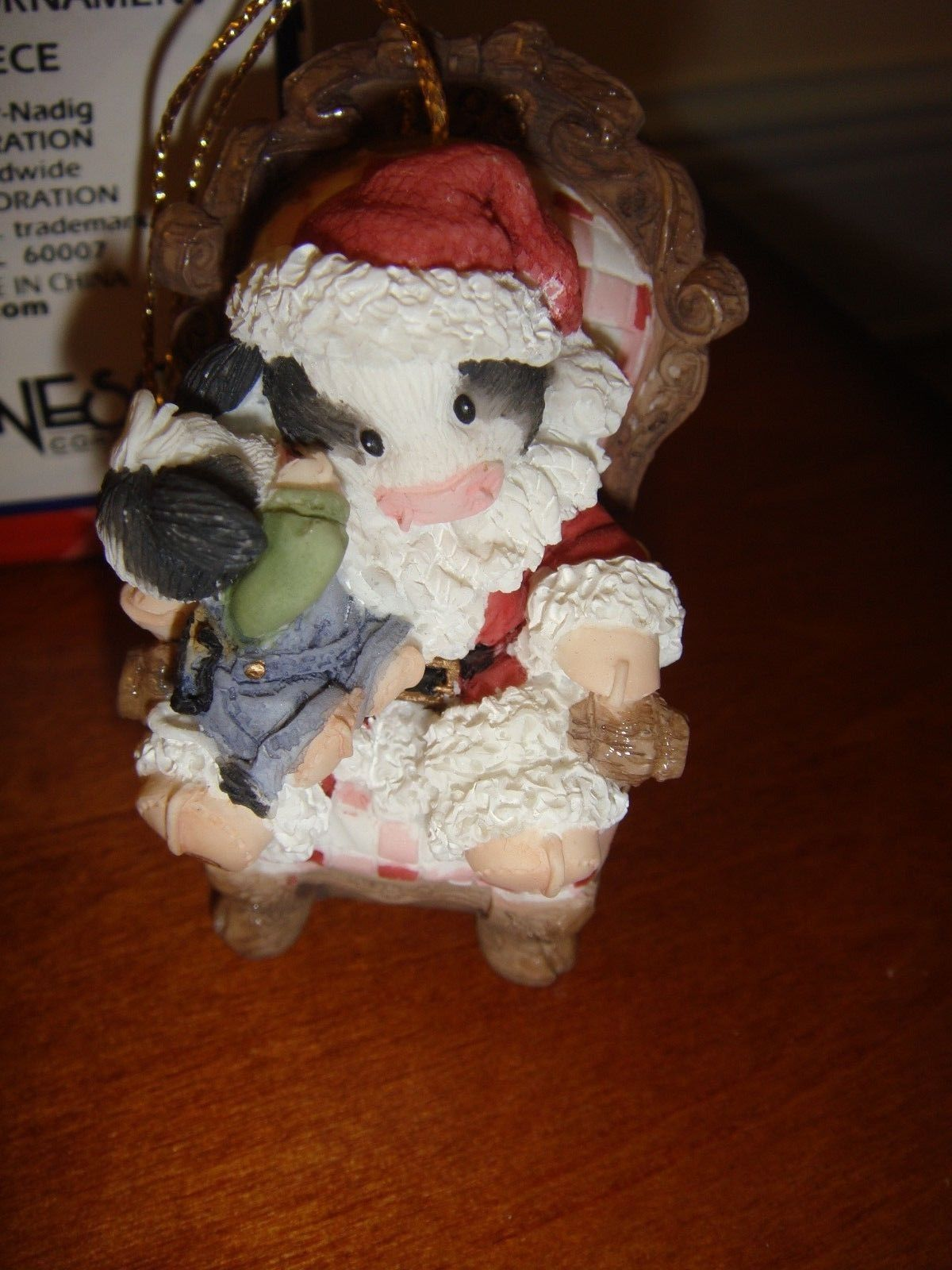 Mary's Moo Moos Santa With Child Dated 1998 Ornament, 370967