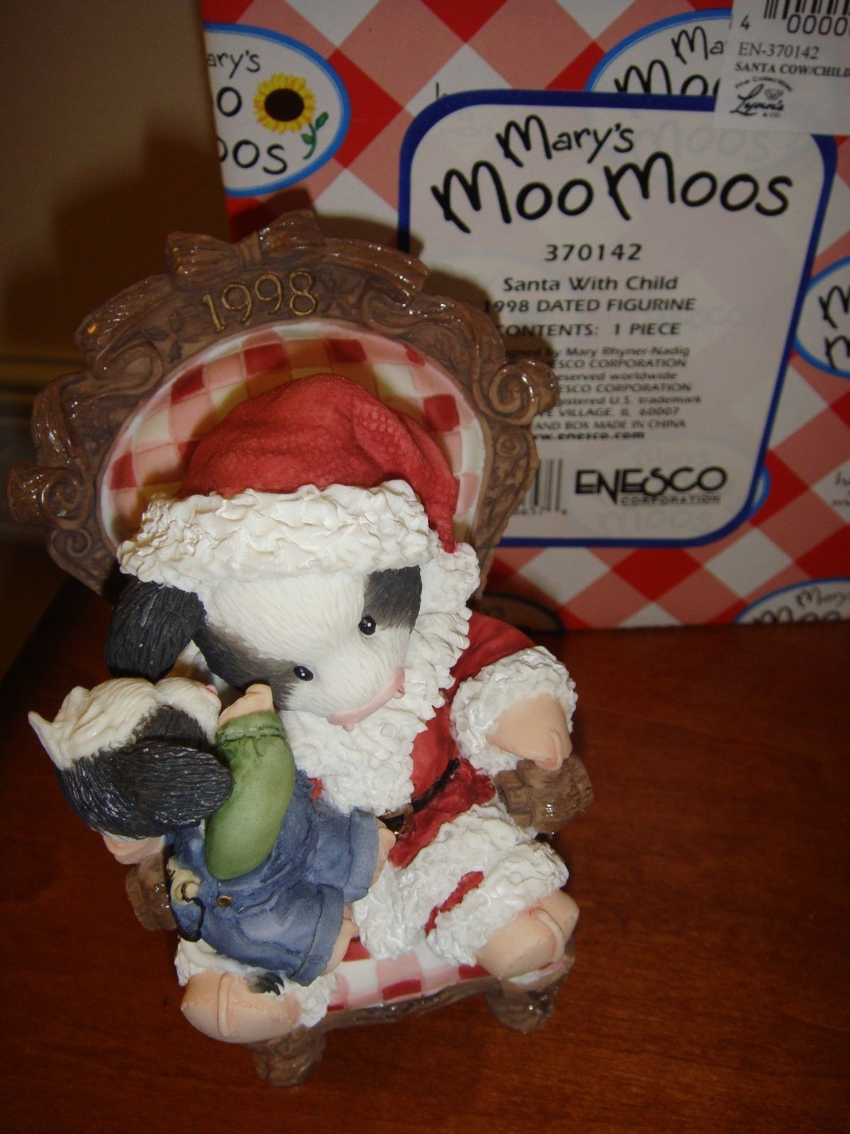 Mary's Moo Moos Santa With Child Dated 1998 Figurine, 370142