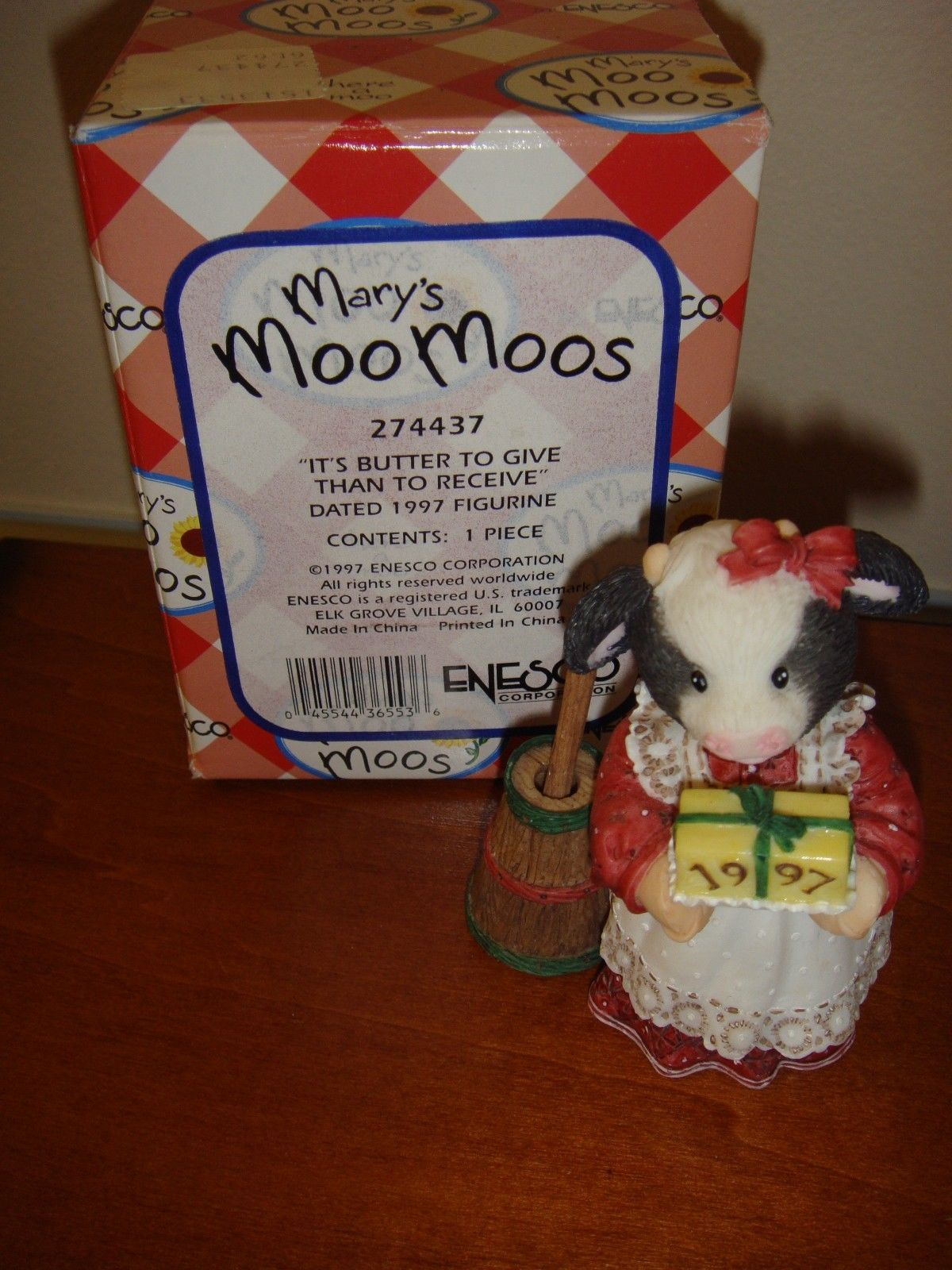 Mary's Moo Moos It's Butter To Give Than To Receive Dated 1997 Figurine, 274437