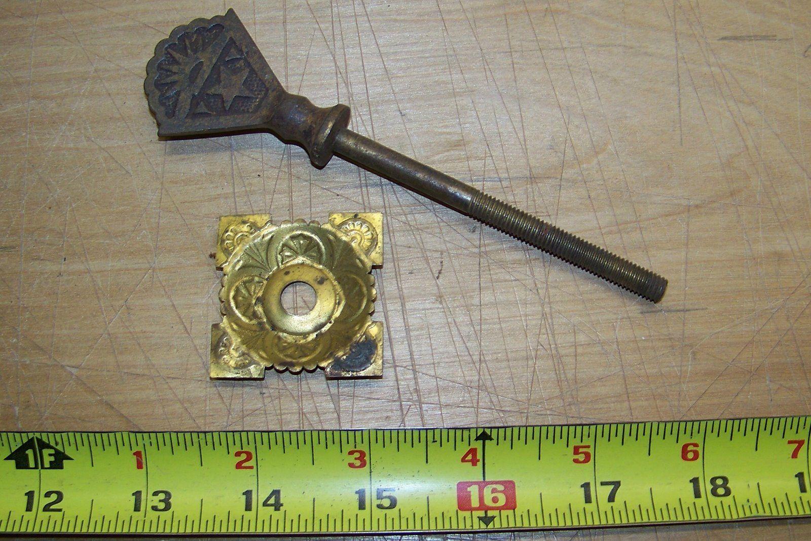 Antique Eastlake drawer cabinet door mirror lamp screw part