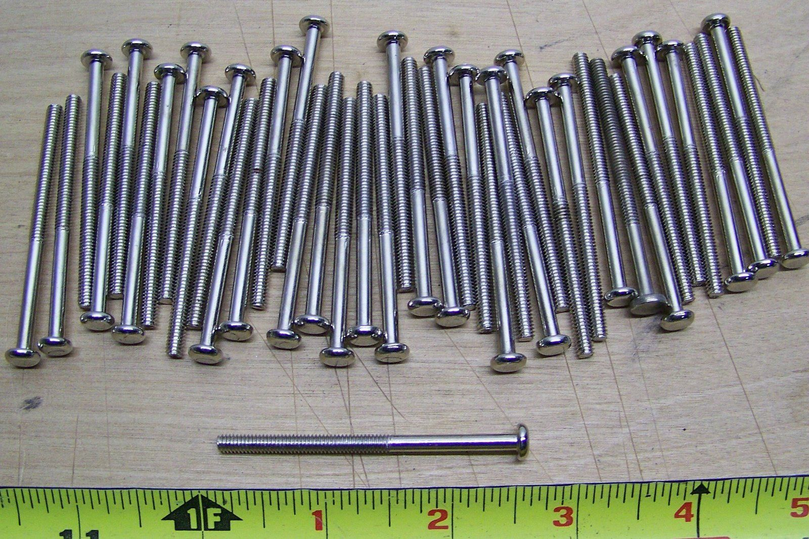 """40 pcs. 2 1/2"""" long nickel/chrome screws for glass knobs/pulls cabinet"""