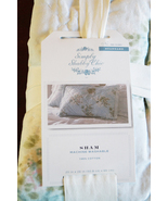 Simply Shabby Chic Blue Wallpaper Ikat Pillow Sham Pair - New in Package - $45.00