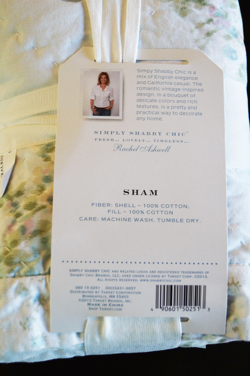 Simply Shabby Chic Blue Wallpaper Ikat Pillow Sham Pair - New in Package