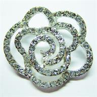 create your own style with swarovski elements - Crystal Rose Pendant
