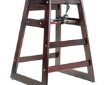 Stacking restaurant wood high chair with dark finish  thumb155 crop