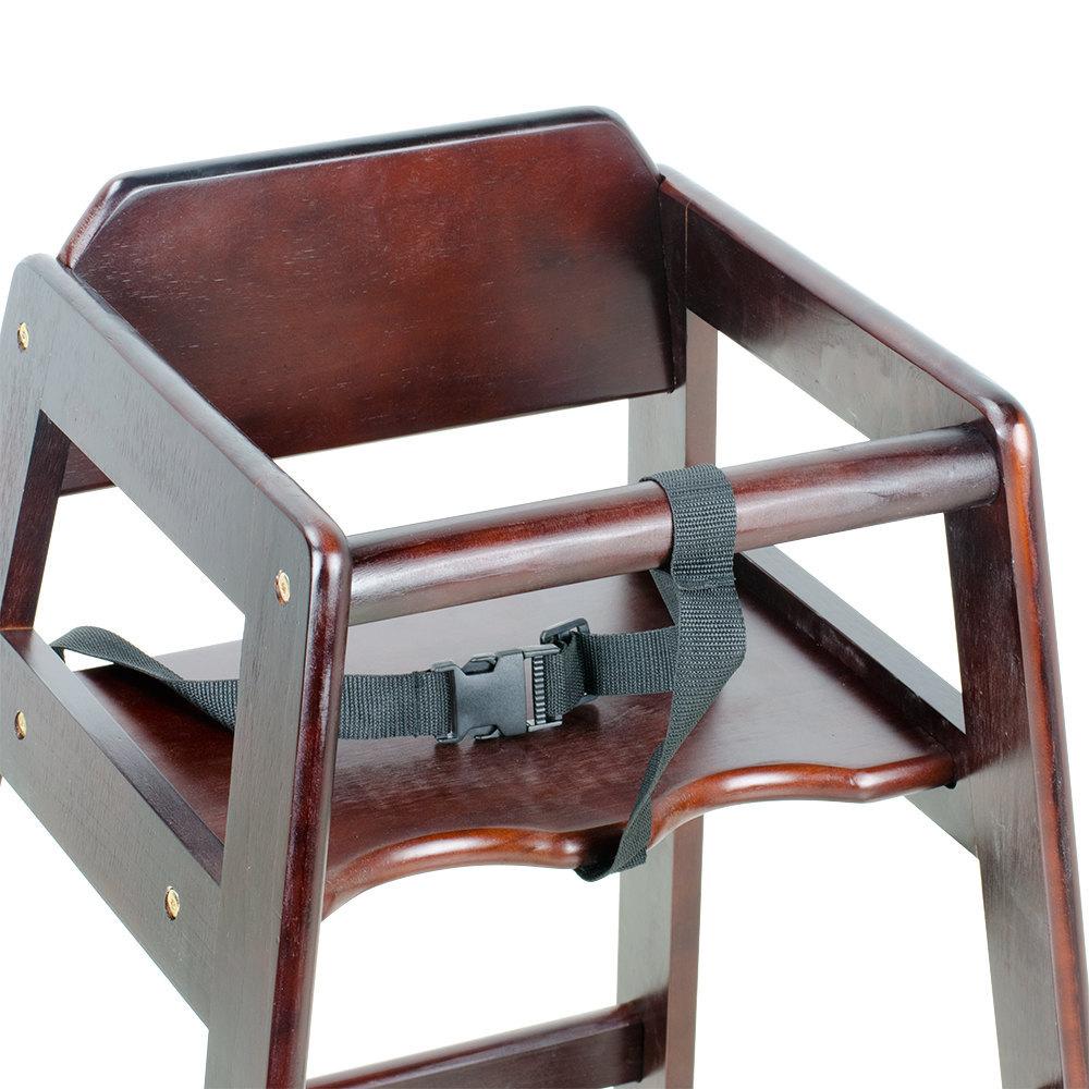 New Restaurant Wood High Chair with Dark Finish Stacking BONUS REBATE