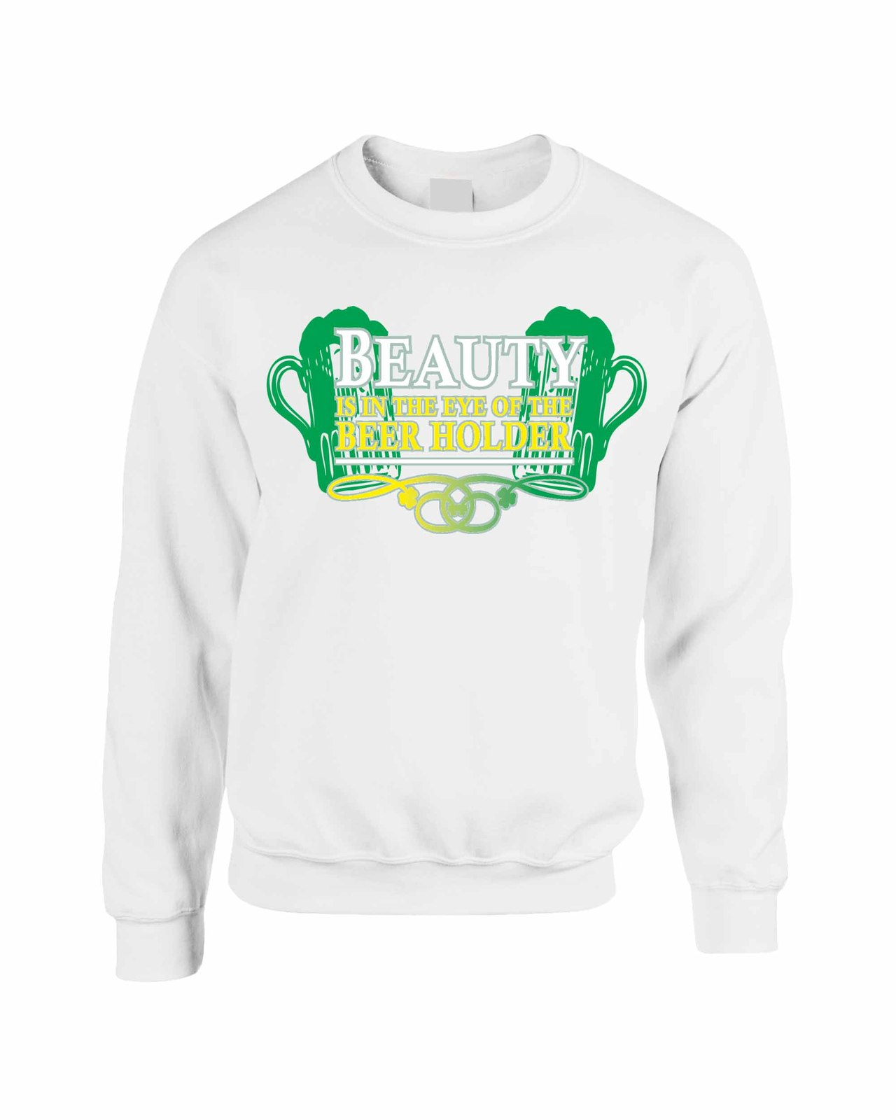 Unisex Crewneck Sweatshirt Saint Patrick's Day Beauty Beer Holder Irish Shirt