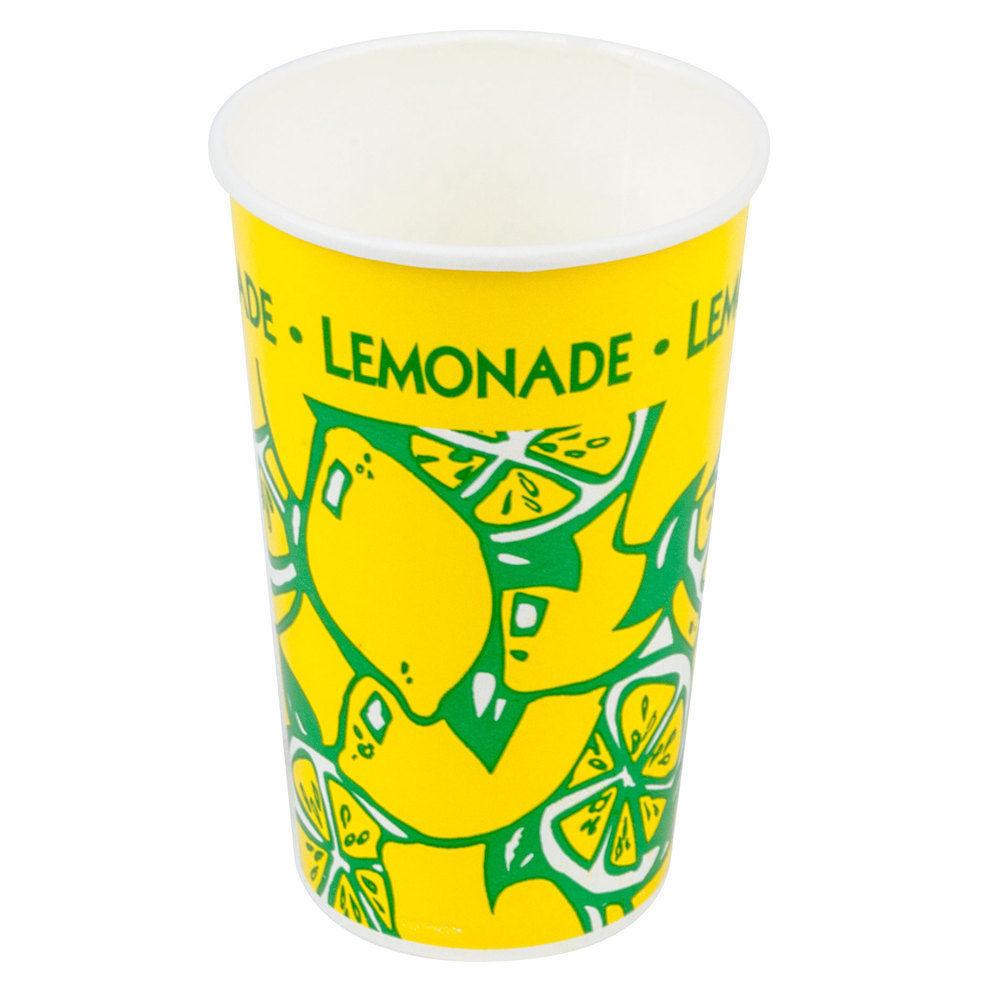 HUGE 16 oz. Tall Paper Lemonade Cup - 1000 / PACK CASE FREE SHIP FEDEX