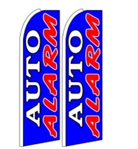 Auto Alarm King Size Polyester Swooper Flag pk of 2