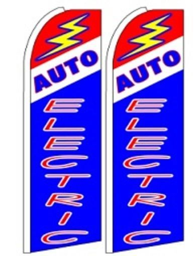 Auto Electric  King Size Polyester Swooper Flag pk of 2