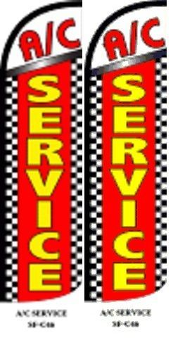 AC Service  King size Windless 38 x 138 in polyester pk of 2 flag
