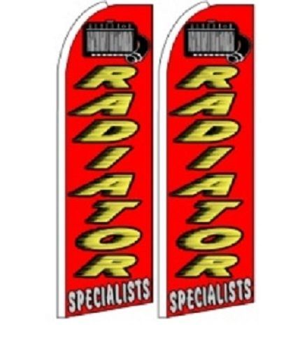 Radiator  Specialist King Size Polyester Swooper Flag pk of 2