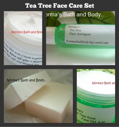 Tea tree face collage set