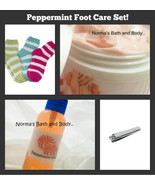 peppermint foot care set - $15.00