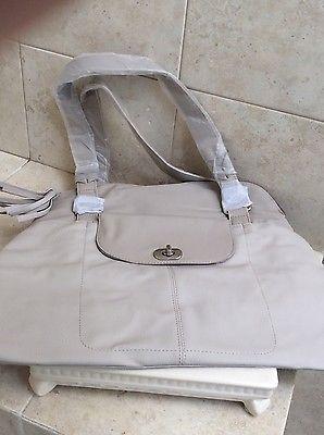 Travel Bag Beige Lightweight, Vinyl,  L'BEL, Nylon, 1 Outside Pocket,Medium size