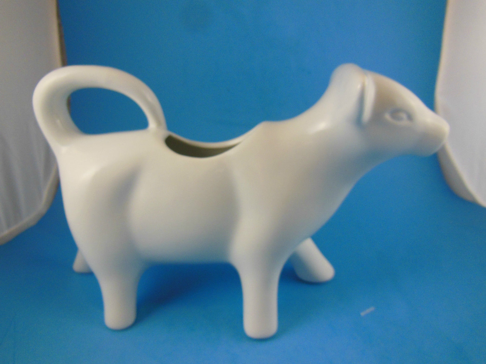 "Porcelain Cow Creamer White  8"" x 5"" Better Homes & Gardens"